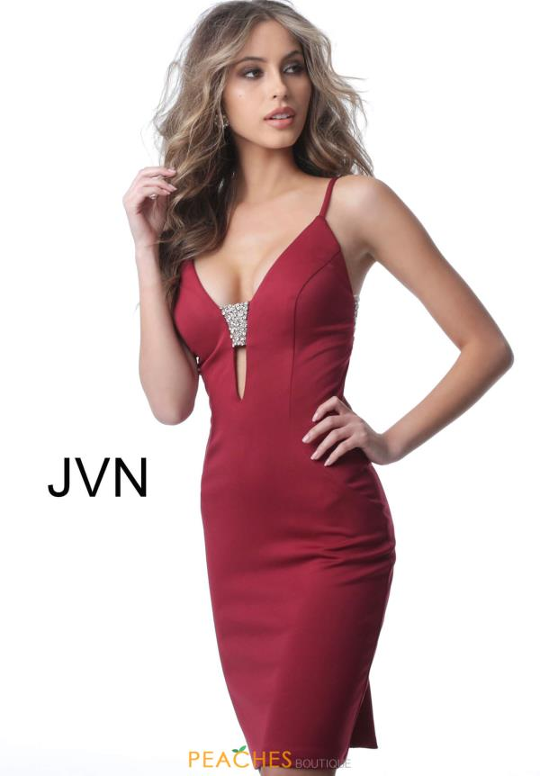JVN by Jovani V-Neck Fitted Dress JVN2279