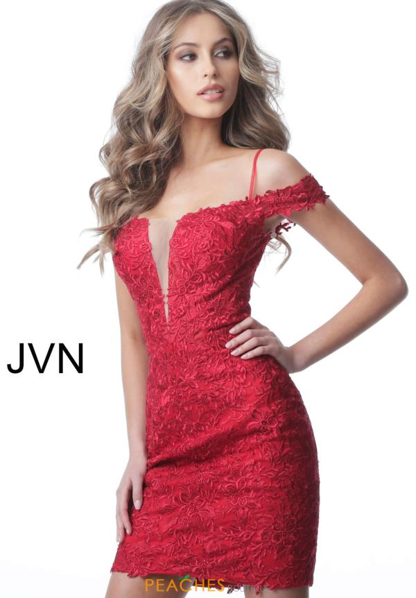 JVN by Jovani Cap Sleeve Lace Dress JVN2291