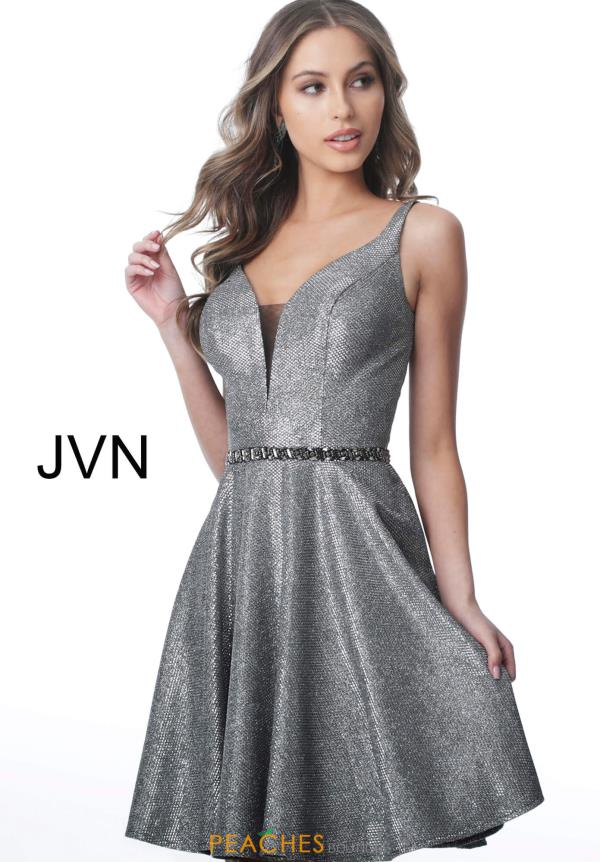 JVN by Jovani V-Neck Beaded Dress JVN2299