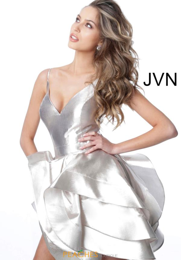 JVN by Jovani V-Neck Short Dress JVN2386