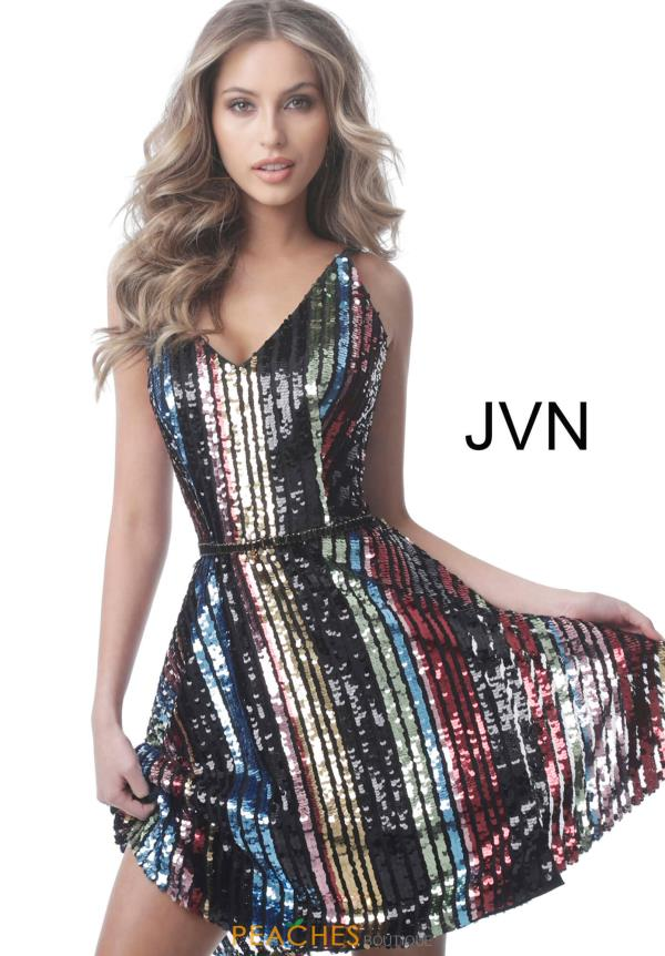 JVN by Jovani V-Neck Sequins Dress JVN2540