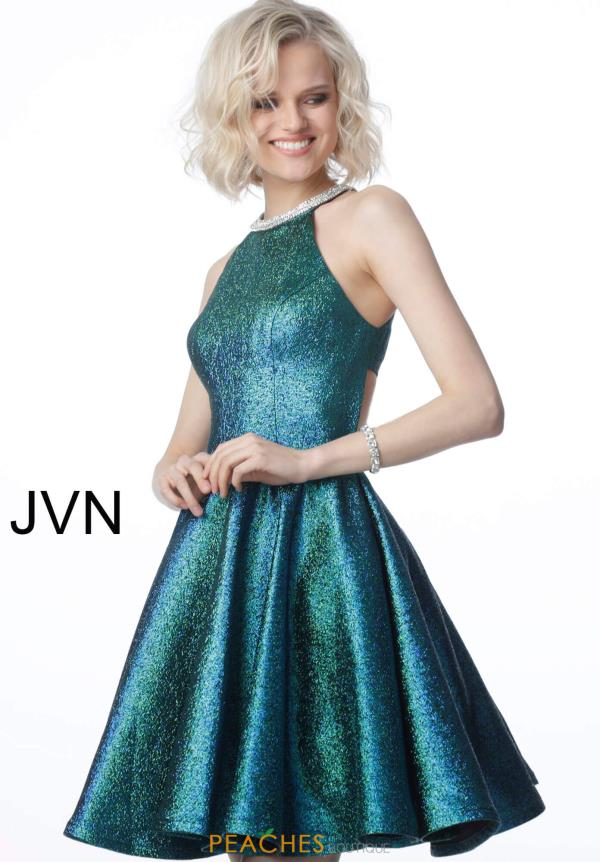 JVN by Jovani Glitter A Line Dress JVN2612