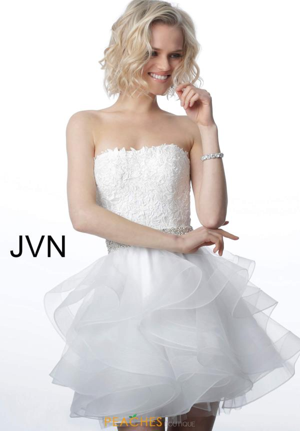 JVN by Jovani Strapless Tulle Dress JVN3099