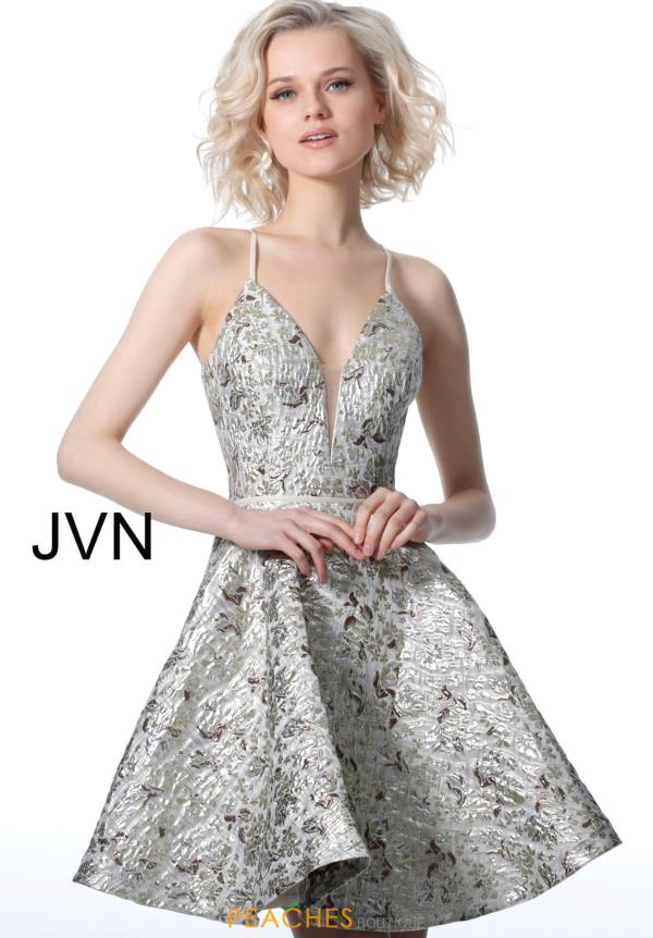 JVN by Jovani Sexy Back Short Dress JVN3821