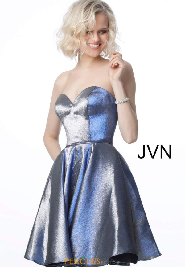 JVN by Jovani Glitter Strapless Dress JVN3776