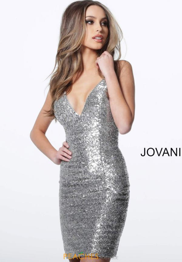 Jovani Short V-Neck Fitted Dress 1113