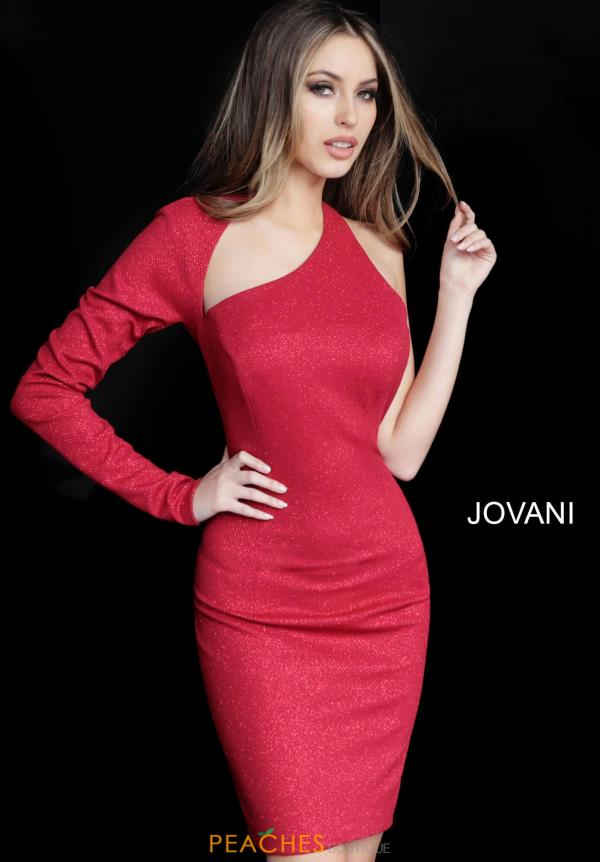 Jovani Short Single Shoulder Fitted Dress 1347