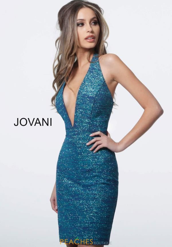 Jovani Short V-Neck Fitted Dress 1352