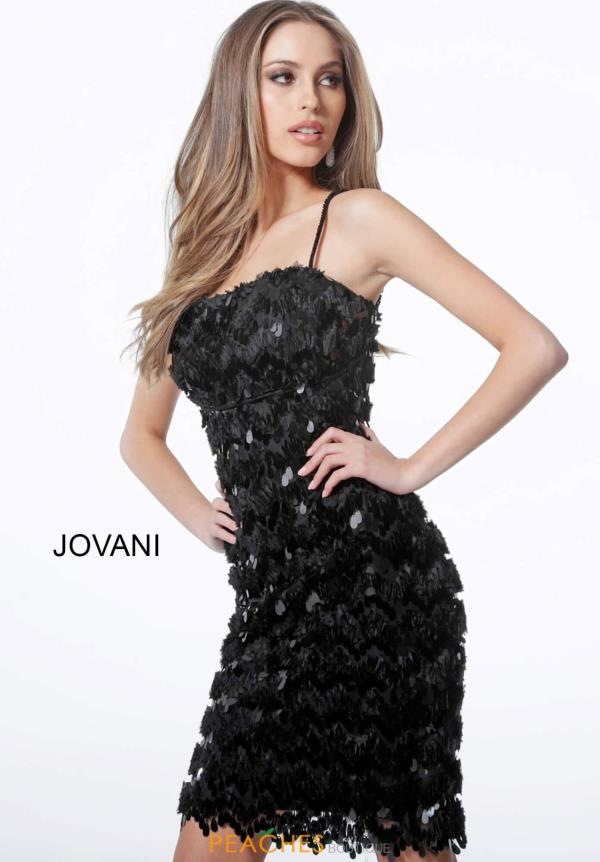 Jovani Short Open Back Fitted Dress 1480