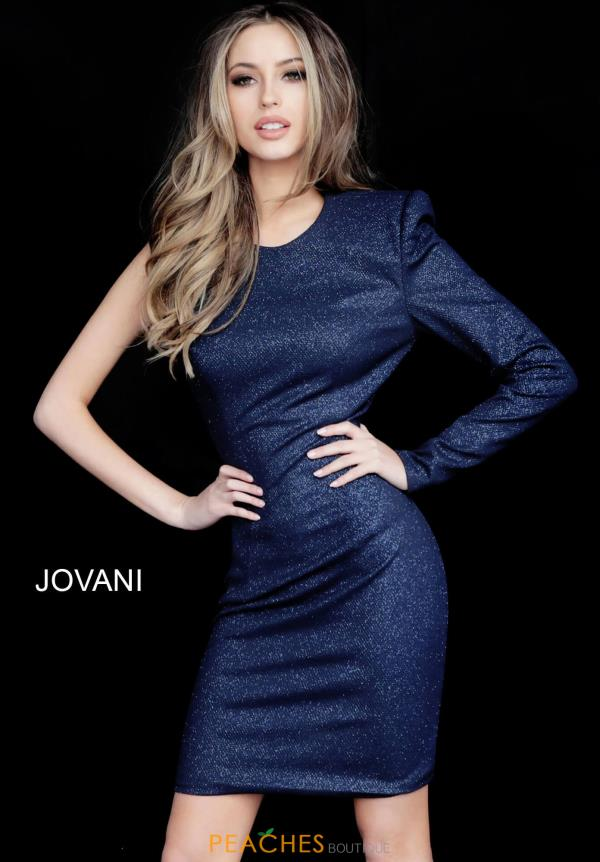 Jovani Short Single Shoulder Dress 171598