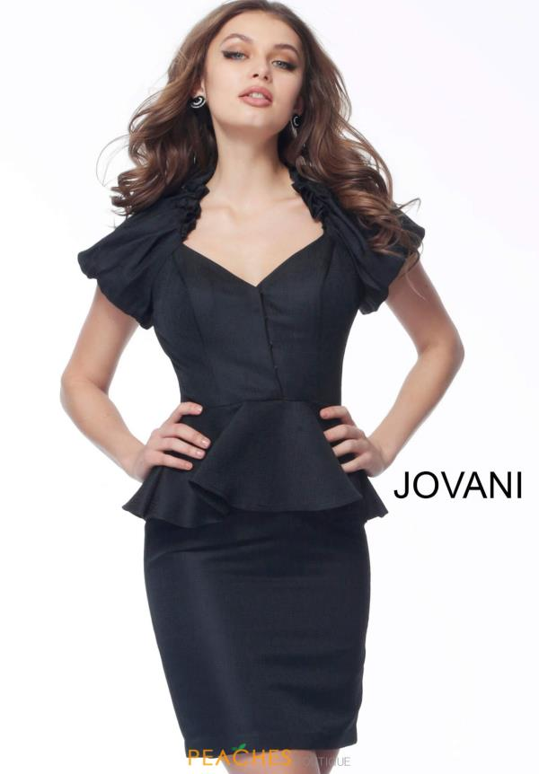 Jovani Short Cap Sleeve Fitted Dress 171598