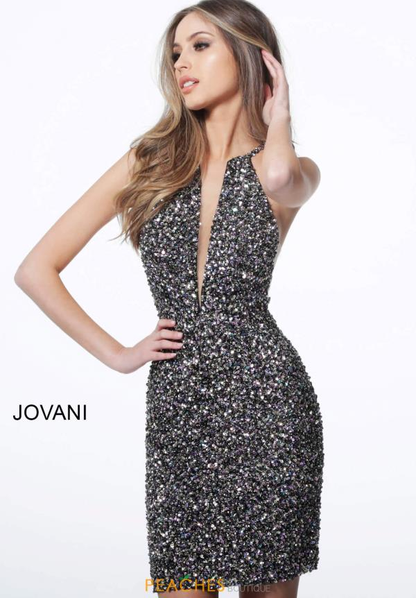 Jovani Short Fully Beaded Fitted Dress 1840