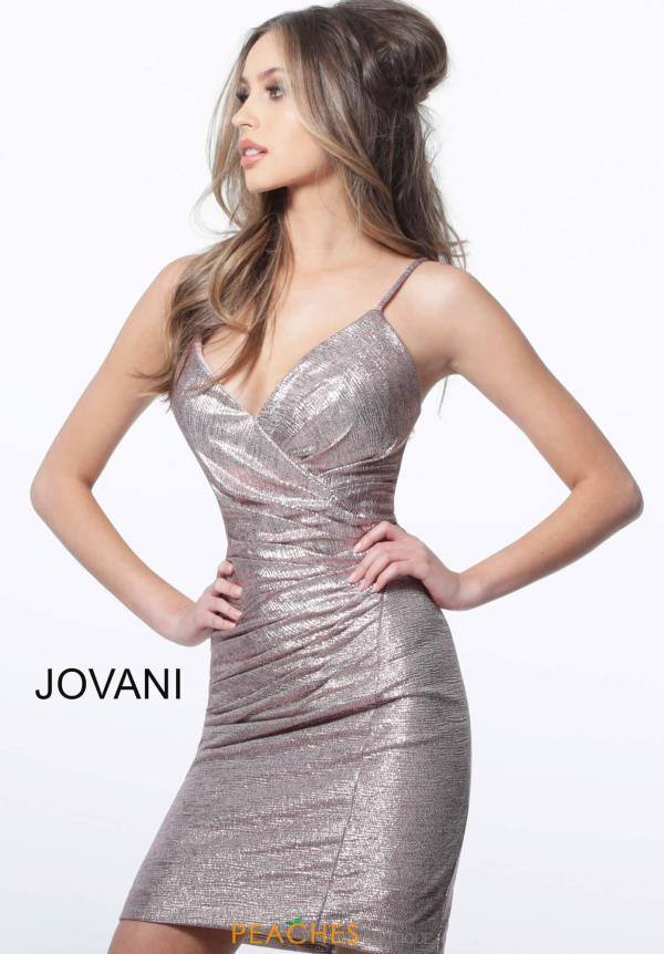 Jovani Short V-Neck Glitter Dress 1851