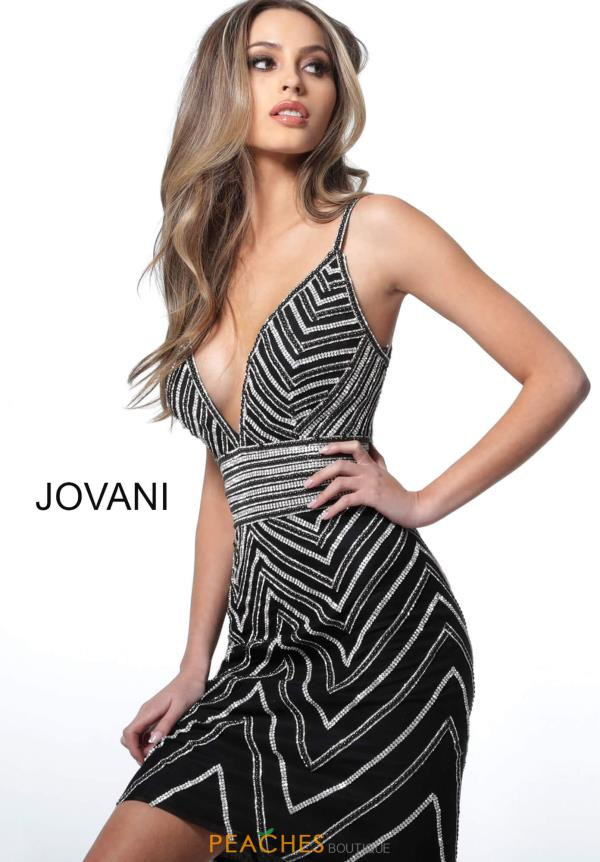 Jovani Short Open Back Beaded Dress 2268