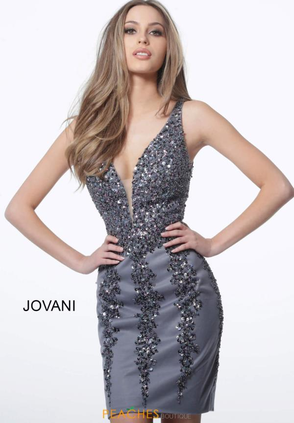 Jovani Short Open Back Fitted Dress 2530