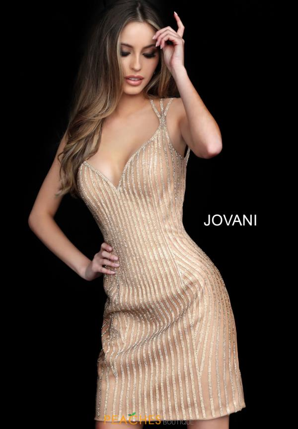 Jovani Short Open Back Fitted Dress 2570