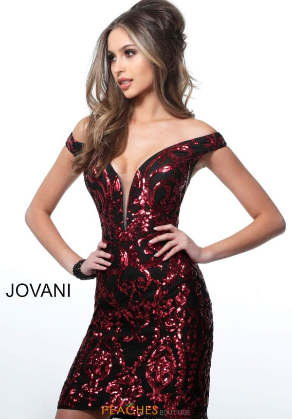 Jovani Short Cap Sleeve Fitted Dress 2666
