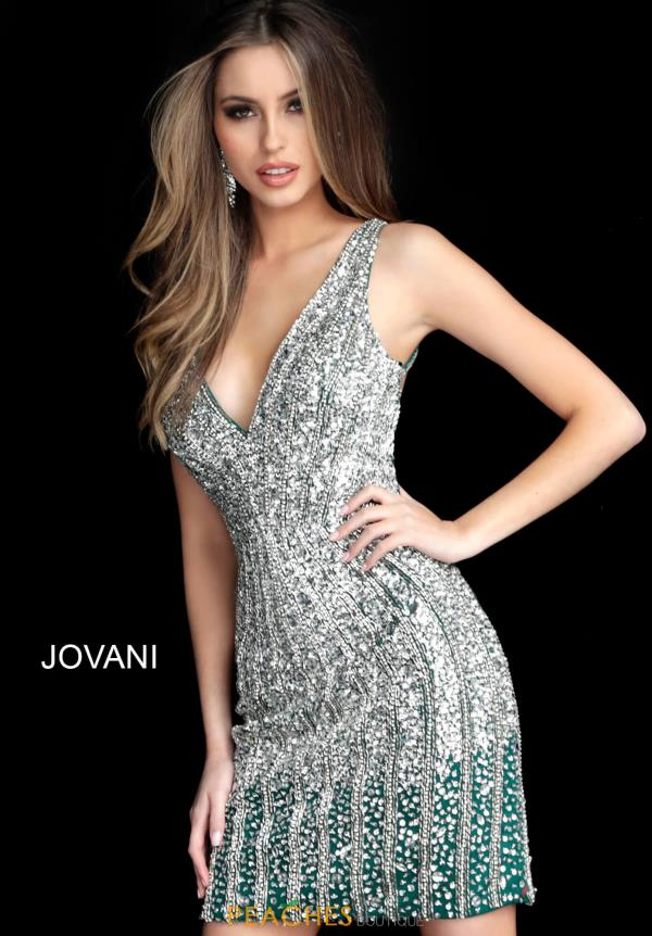 Jovani Short Fitted Fully Beaded Dress 2804
