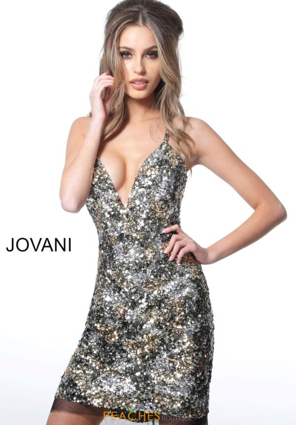 Jovani Short V-Neck Fully Beaded Dress 3151