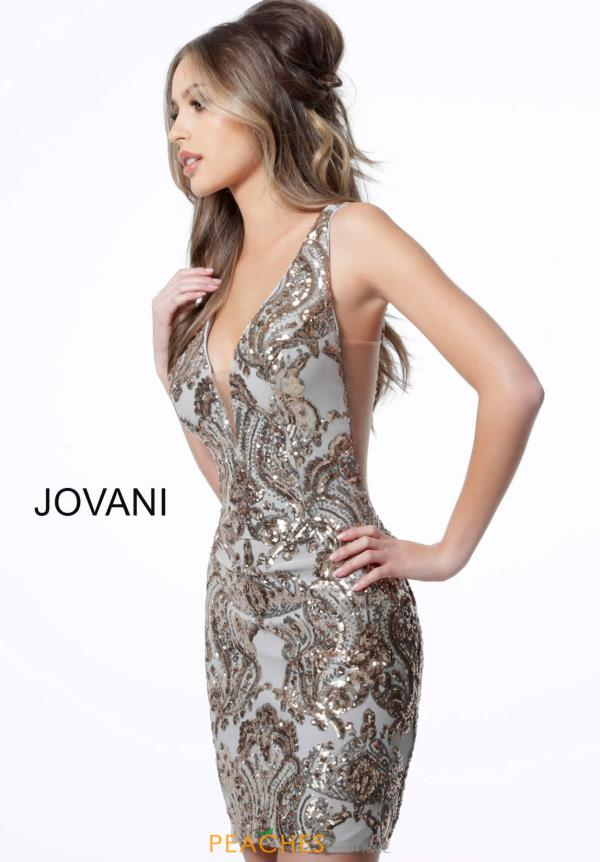 Jovani Short V-Neck Jersey Dress 3414