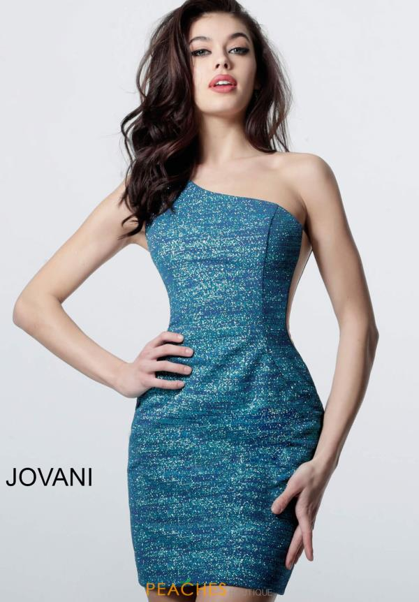 Jovani Short Stretch Glitter Dress 4583