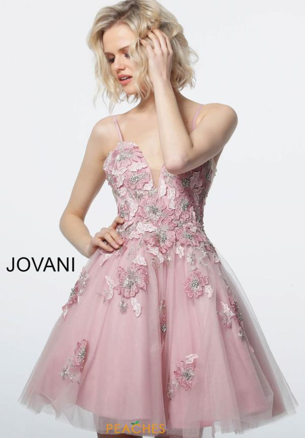 Jovani Short V-Neck Beaded Dress 67573