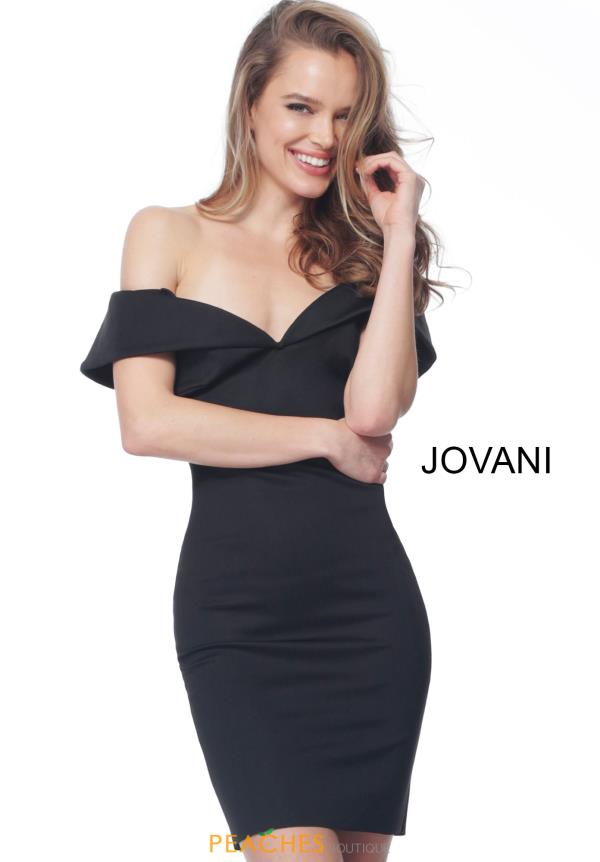 Jovani Short Off the Shoulder Dress 68410