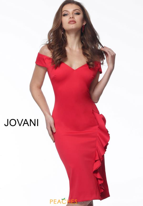 Jovani Short Cap Sleeve Neoprene Dress 68769