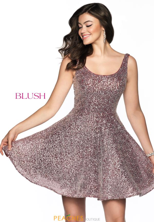 Blush Fully Beaded Scoop Dress 11809