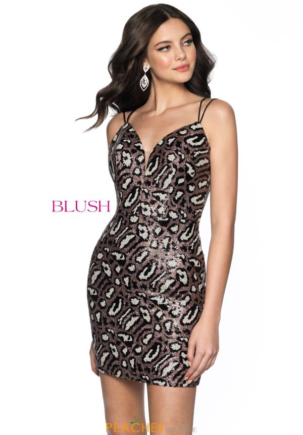 Blush Full Beaded V-Neck Dress B153