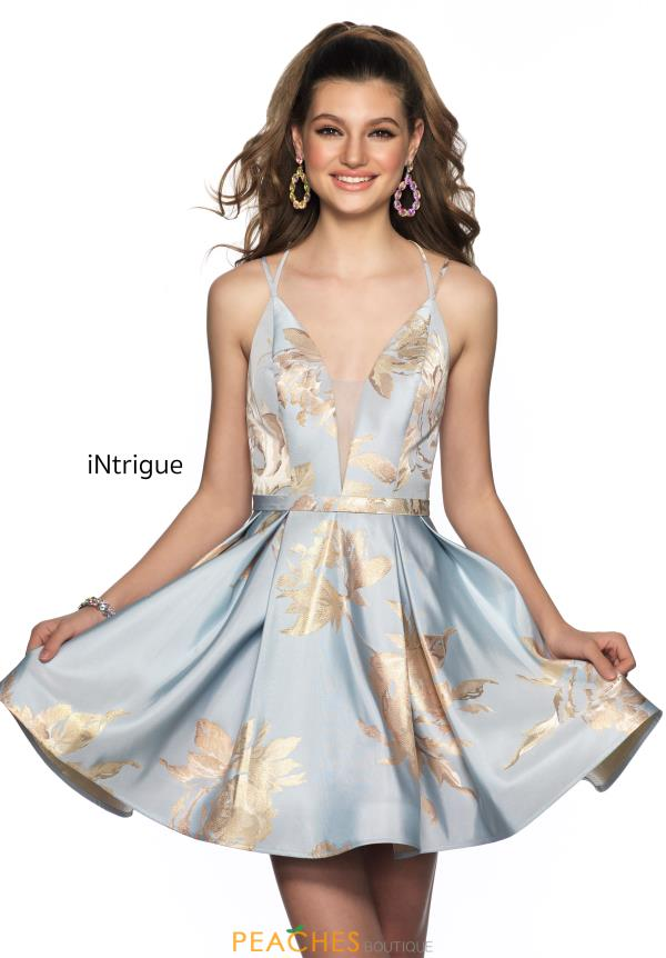 Intrigue by Blush V-Neck Satin Dress 604