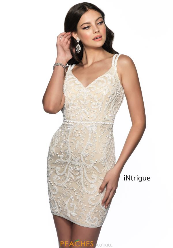 Intrigue by Blush V-Neck Beaded Dress 607