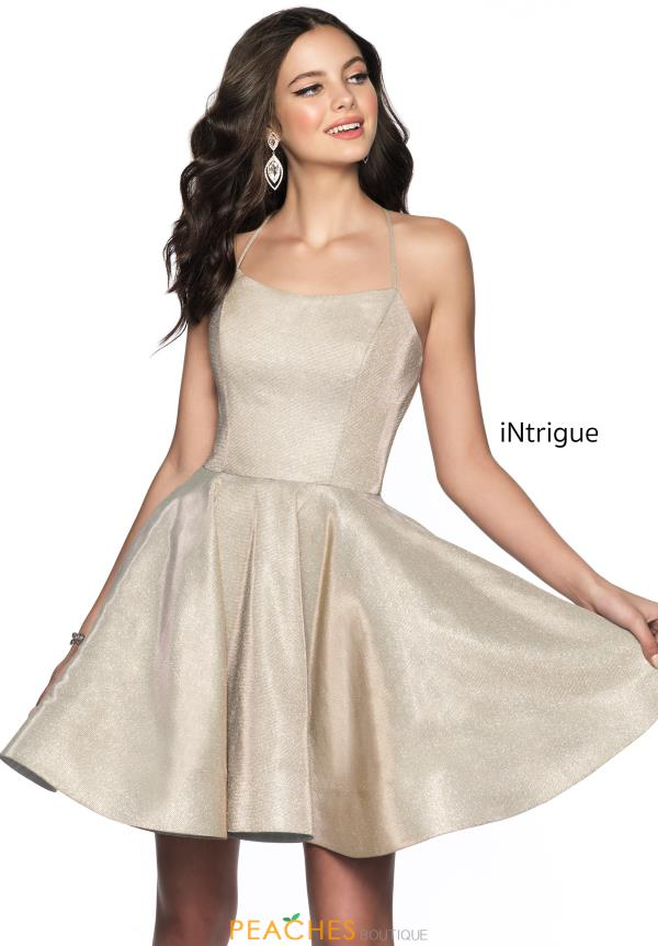 Intrigue by Blush Scoop Glitter Dress 611