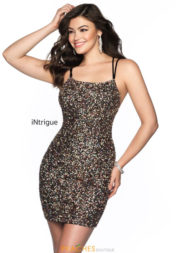 Intrigue by Blush Fully Beaded Scoop Dress 617