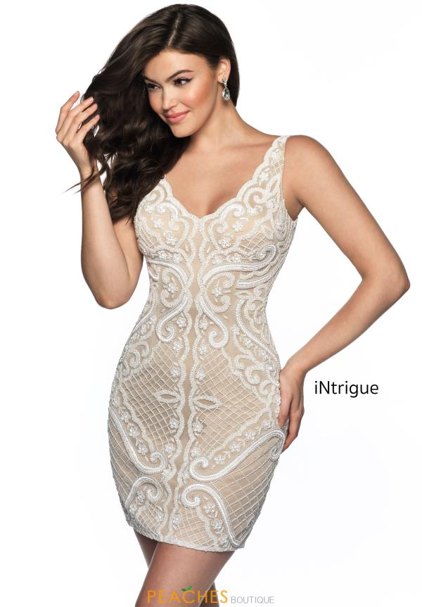 Intrigue by Blush Beaded Short Dress 642