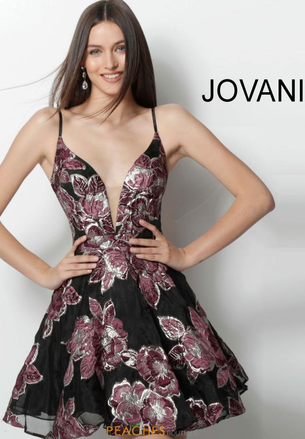 Jovani Short Black Dress 64090