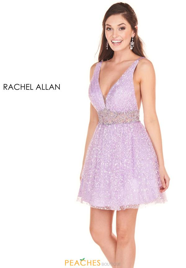 Rachel Allan V- Neckline Short Dress 4050
