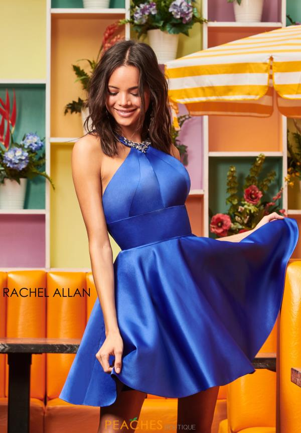 Rachel Allan Halter Top A Line Dress 4061