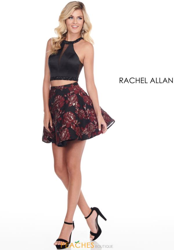 Rachel Allan Two Piece A Line Dress 4074