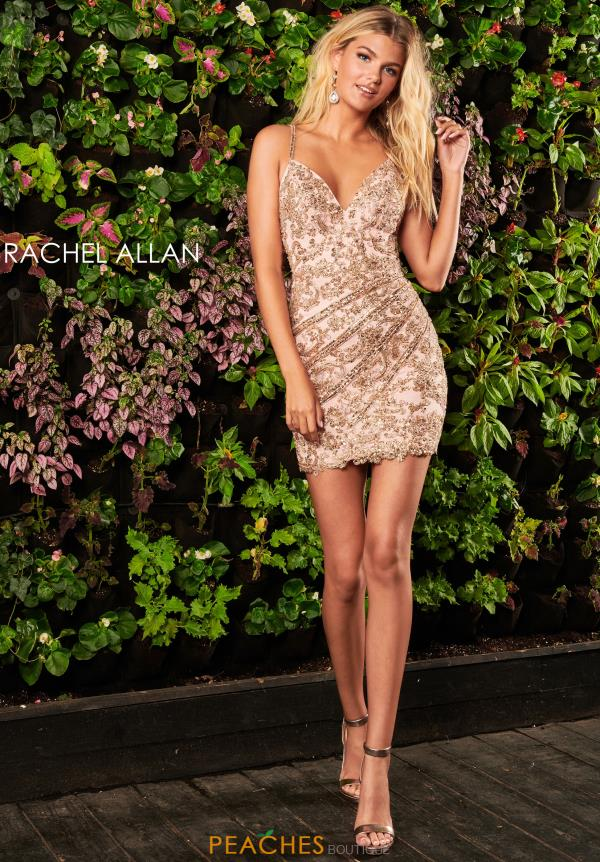 Rachel Allan Short Fitted Dress 4076