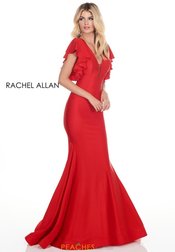 Rachel Allan Sleeved Fitted Dress 4150