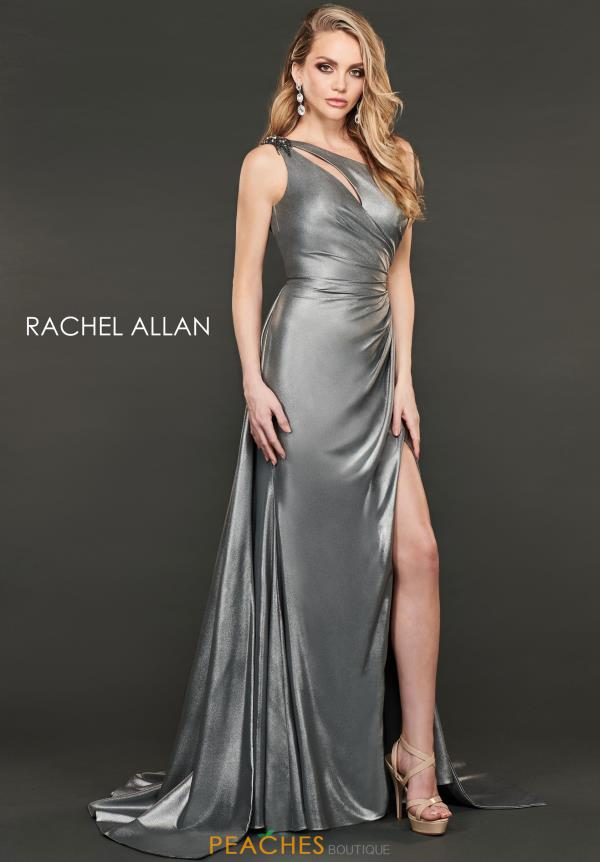 Rachel Allan One Shoulder Fitted Dress 8406