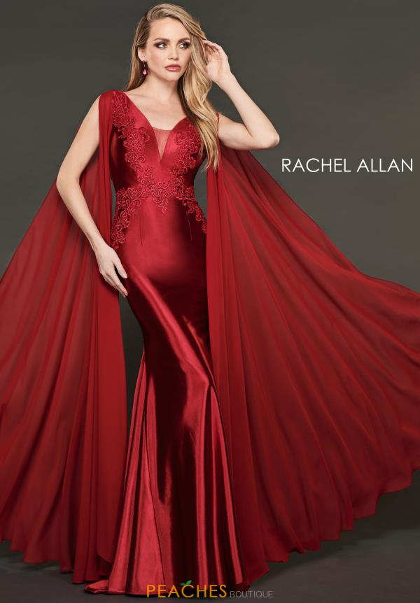 Rachel Allan Sleeved Fitted Dress 8420