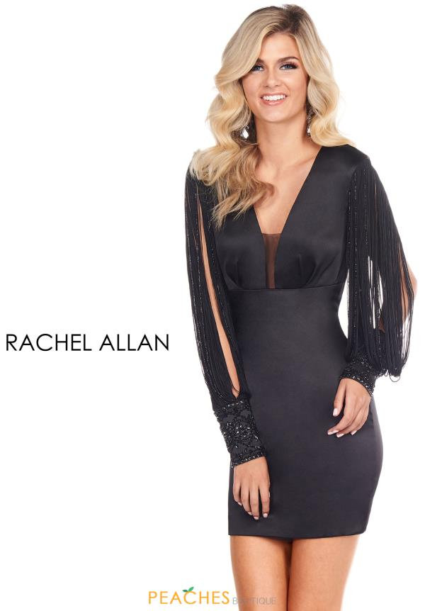Rachel Allan Long Sleeved Fitted Dress L1256