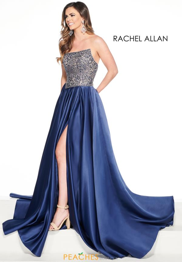 Prima Donna Strapless Satin Pageant Dress 5087