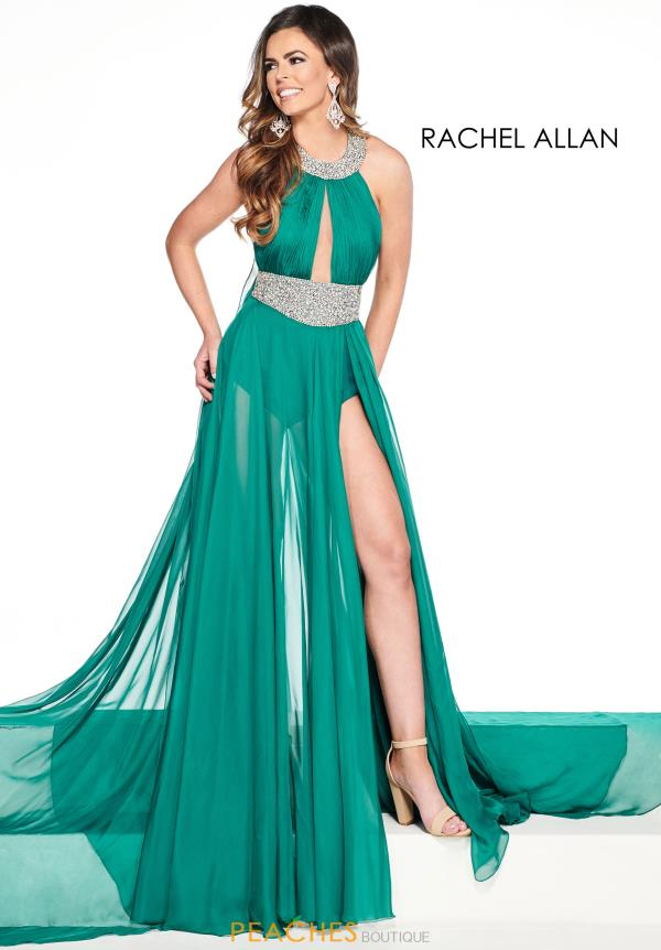 Prima Donna High Neckline Chiffon Pageant Dress 5090