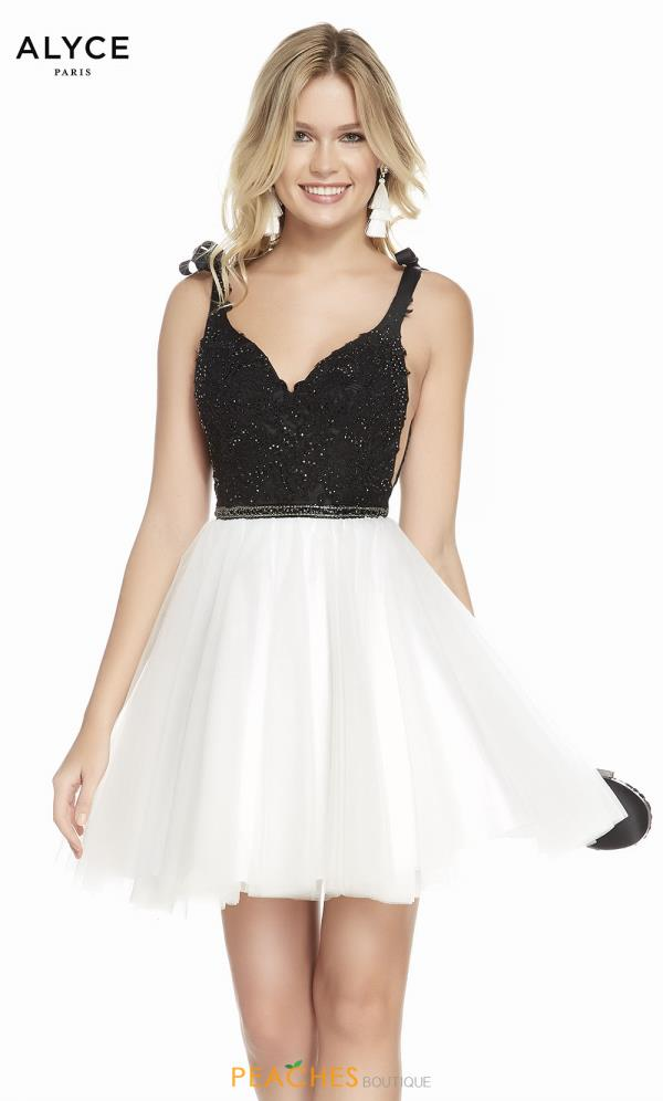 Alyce Paris A Line Tulle Dress 3843