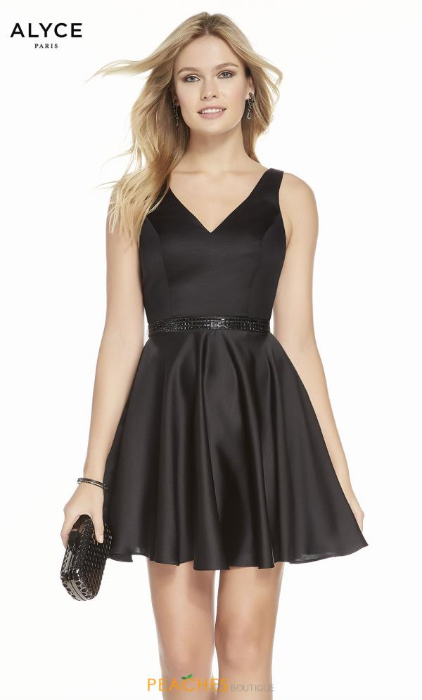 Alyce Paris V-Neck Short Dress 3884