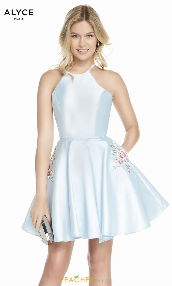 Alyce Paris High Neckline Beaded Dress 3887