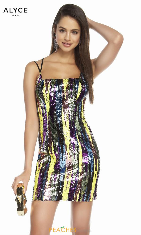 Alyce Paris Fully Beaded Fitted Dress 4198